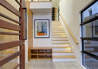 Staircase cabinetry