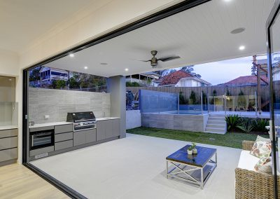 Outdoor BBQ entertaining area