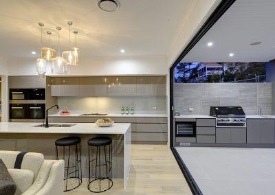Modern Kitchen with BBQ area