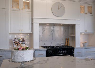 Hamptons style stove opening - Zente Kitchens Showroom