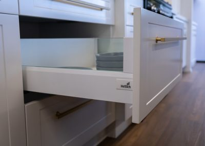 Hettich Glass-sided Soft Close Drawers