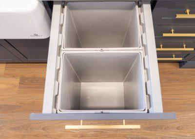 Hettich Integrated Bin - Zente Showroom