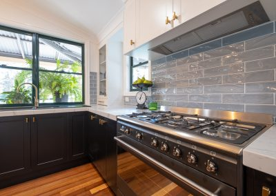grey subway tile splashback