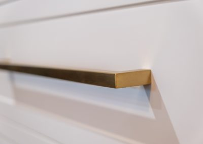brushed brass handle