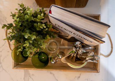 kitchen design flat lay